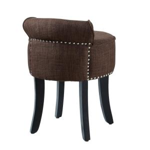 Cool Inspired Home Margot Nailhead Trim Rolled Back Brown Linen Alphanode Cool Chair Designs And Ideas Alphanodeonline