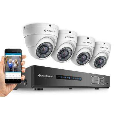 ProHD 720P 4CH Security System - Four 1.0-MP IP67 Dome 1TB, Night Vision, Remote Smartphone Access