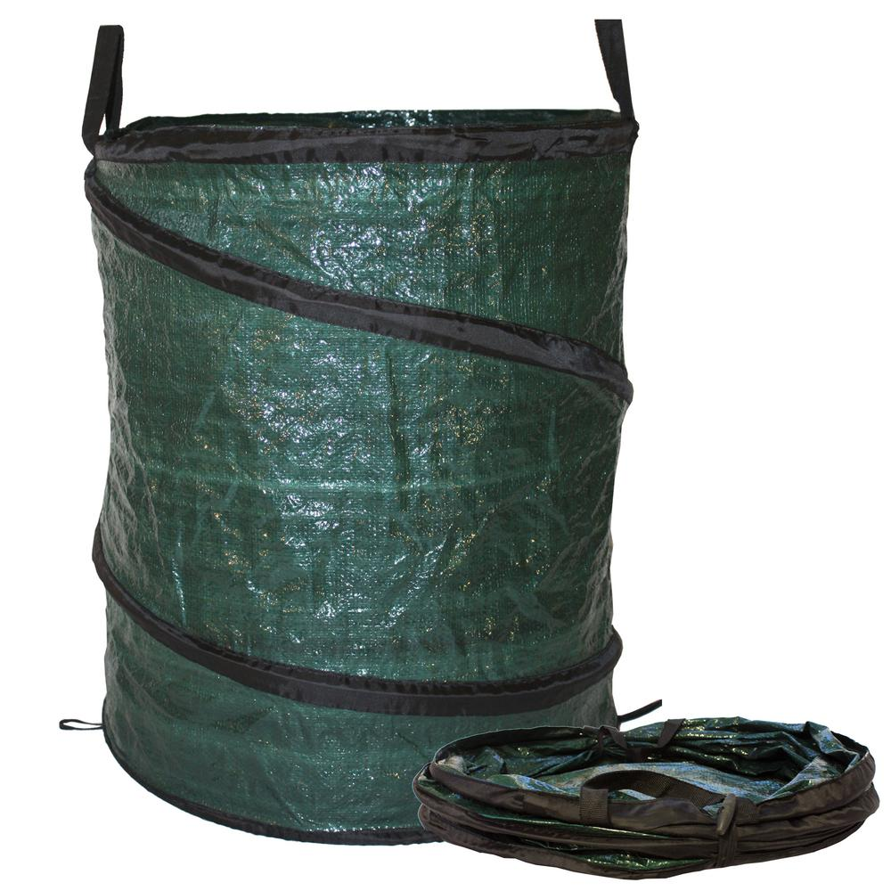 30 Gal. Collapsible Reusable Pop Up Lawn Garden Leaf Bag Trash Can