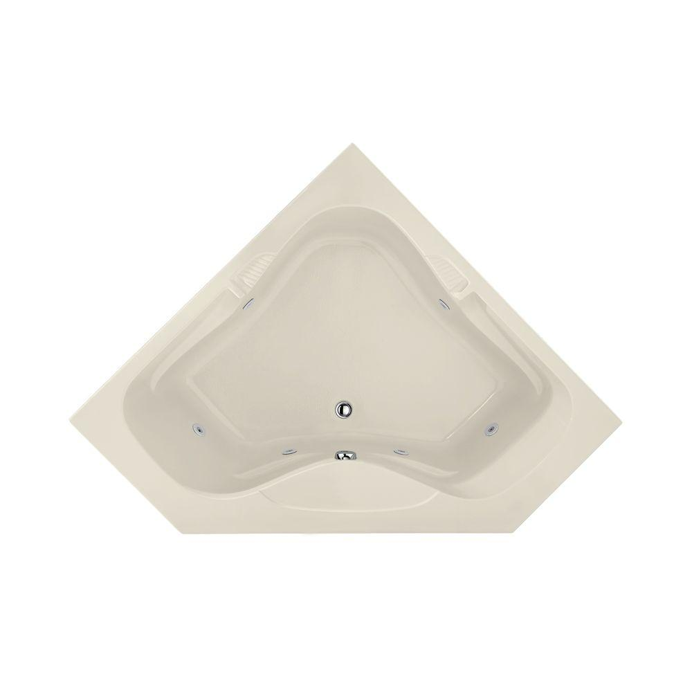 Lexington 5 ft. Reversible Drain Whirlpool Tub in Biscuit