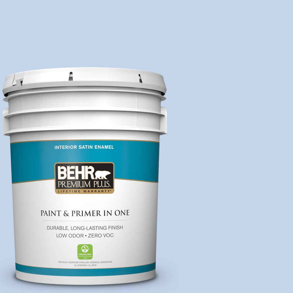 5-gal. #580A-3 Rain Song Zero VOC Satin Enamel Interior Paint