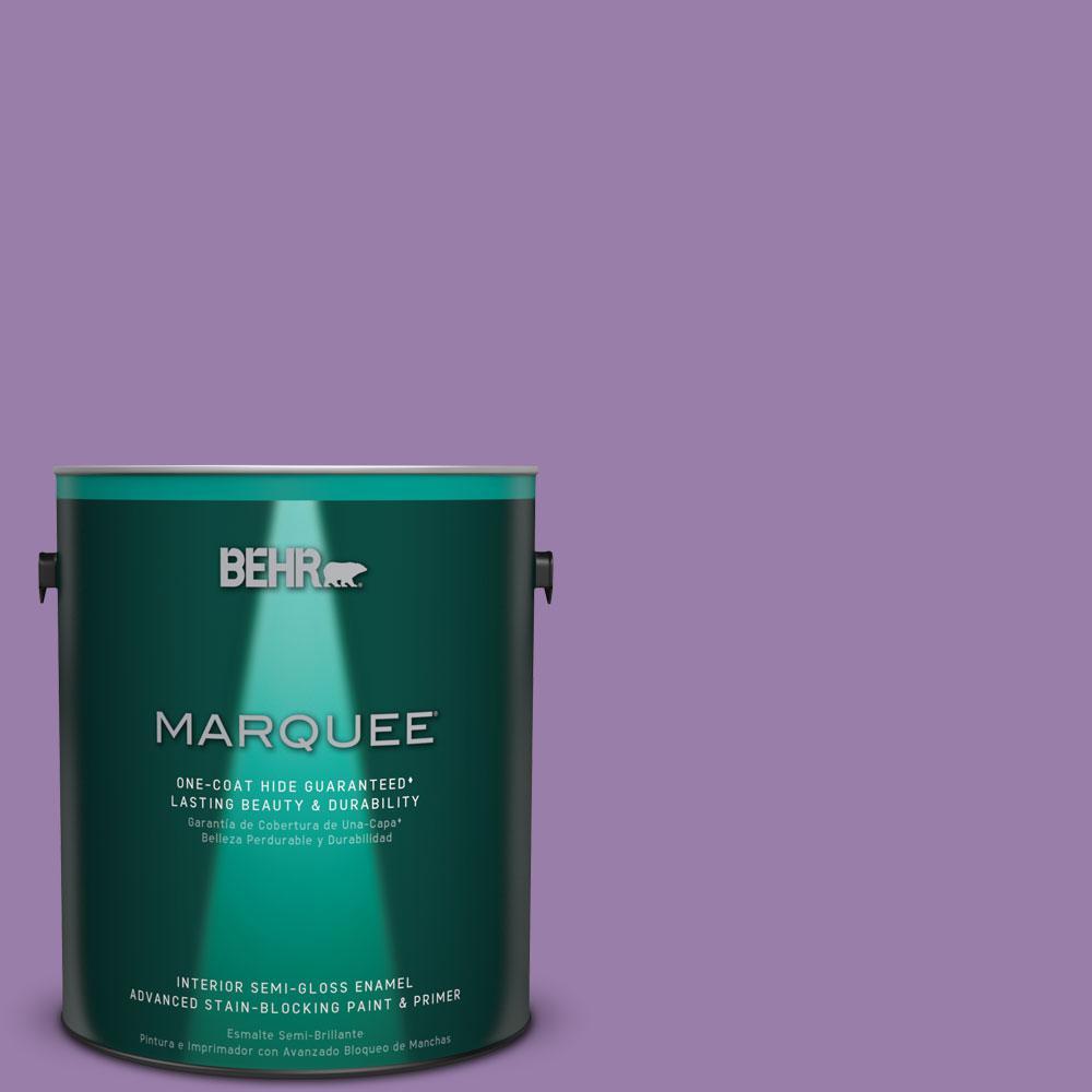 1 gal. #MQ4-61 Lilac Intuition One-Coat Hide Semi-Gloss Enamel Interior Paint