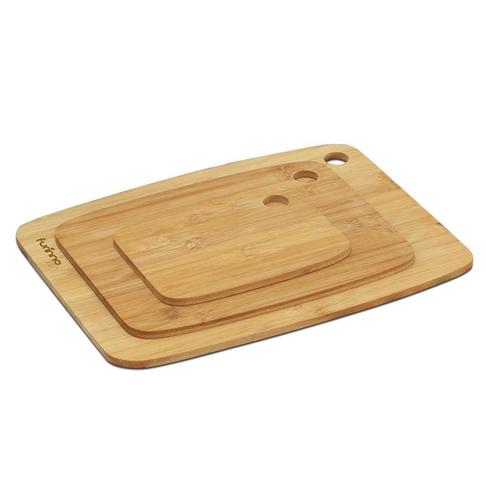 DaPur 3-Piece Bamboo Grip Handles Cutting Board Set