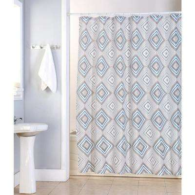 Kaitlyn 70 in. Multi Geometric Shower Curtain