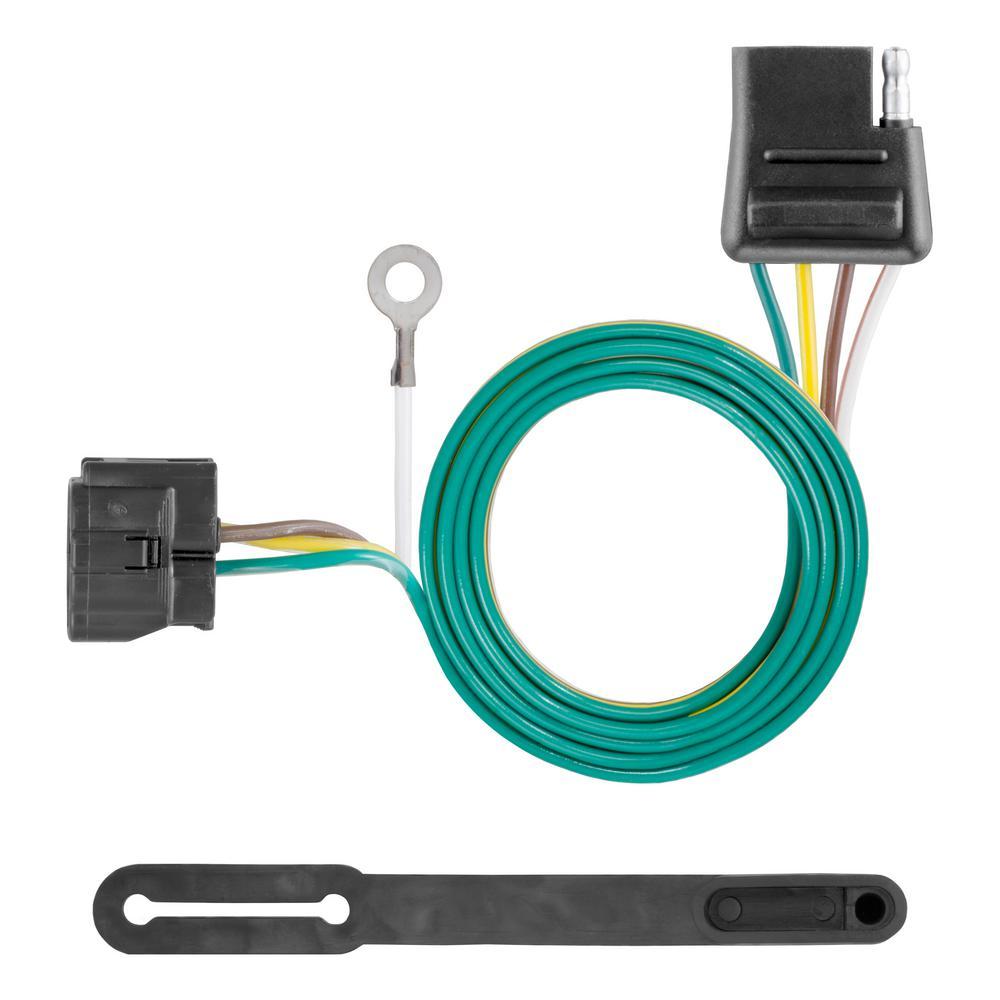 curt custom towed vehicle rv wiring harness add on 58918 the home rh homedepot com tow car wiring harness jeep wrangler tow vehicle wiring harness