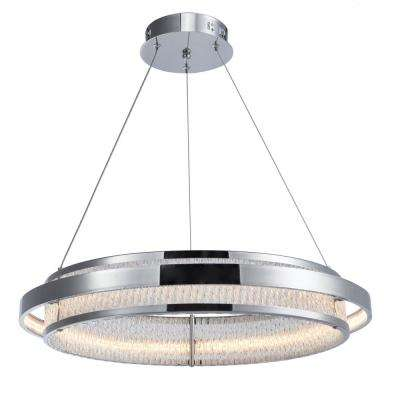 1-Light Chrome Chandelier