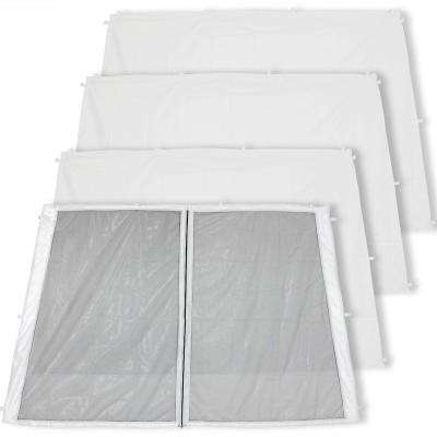 Zippered and 3 Standard Sidewall Panels for 8 ft. x 8 ft. Slant Leg Canopy