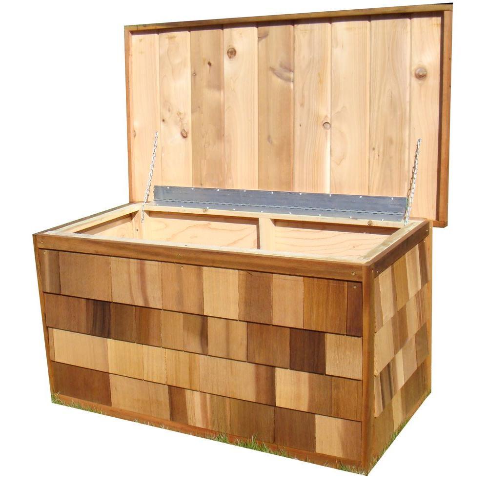 Greenstone 100 Gallon Cedar Deck Box