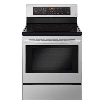 6.3 cu. ft. Electric Range with True Convection Oven and Self Clean in Stainless Steel