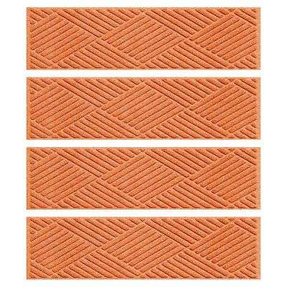 Orange 8.5 in. x 30 in. Diamonds Stair Tread (Set of 4)