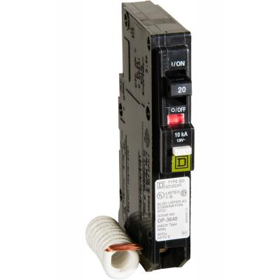 QO 20 Amp Single-Pole Combination Arc Fault Circuit Breaker