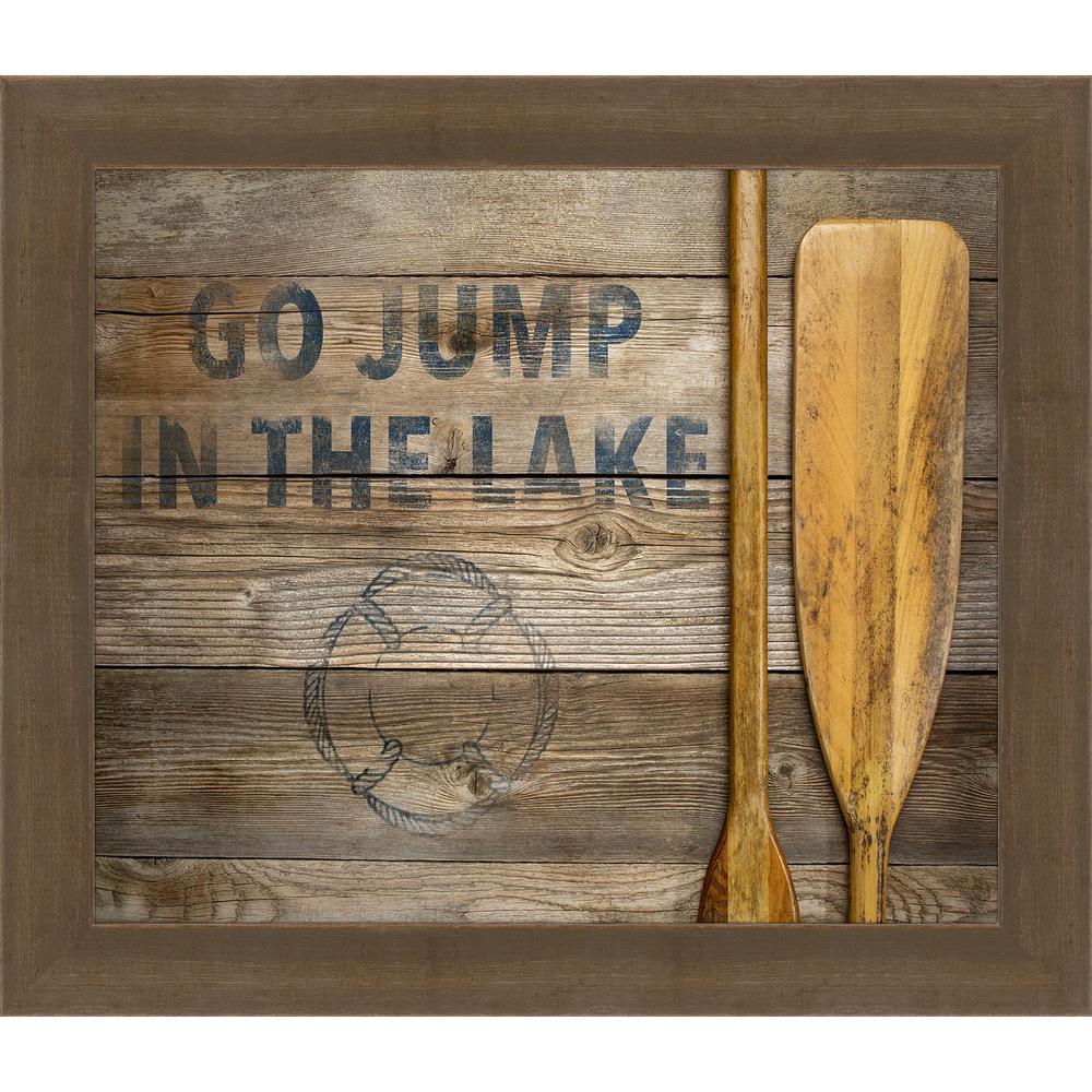 "25 in. x 29 in. ""Go Jump in the Lake"" Framed Giclee Print Wall Art"