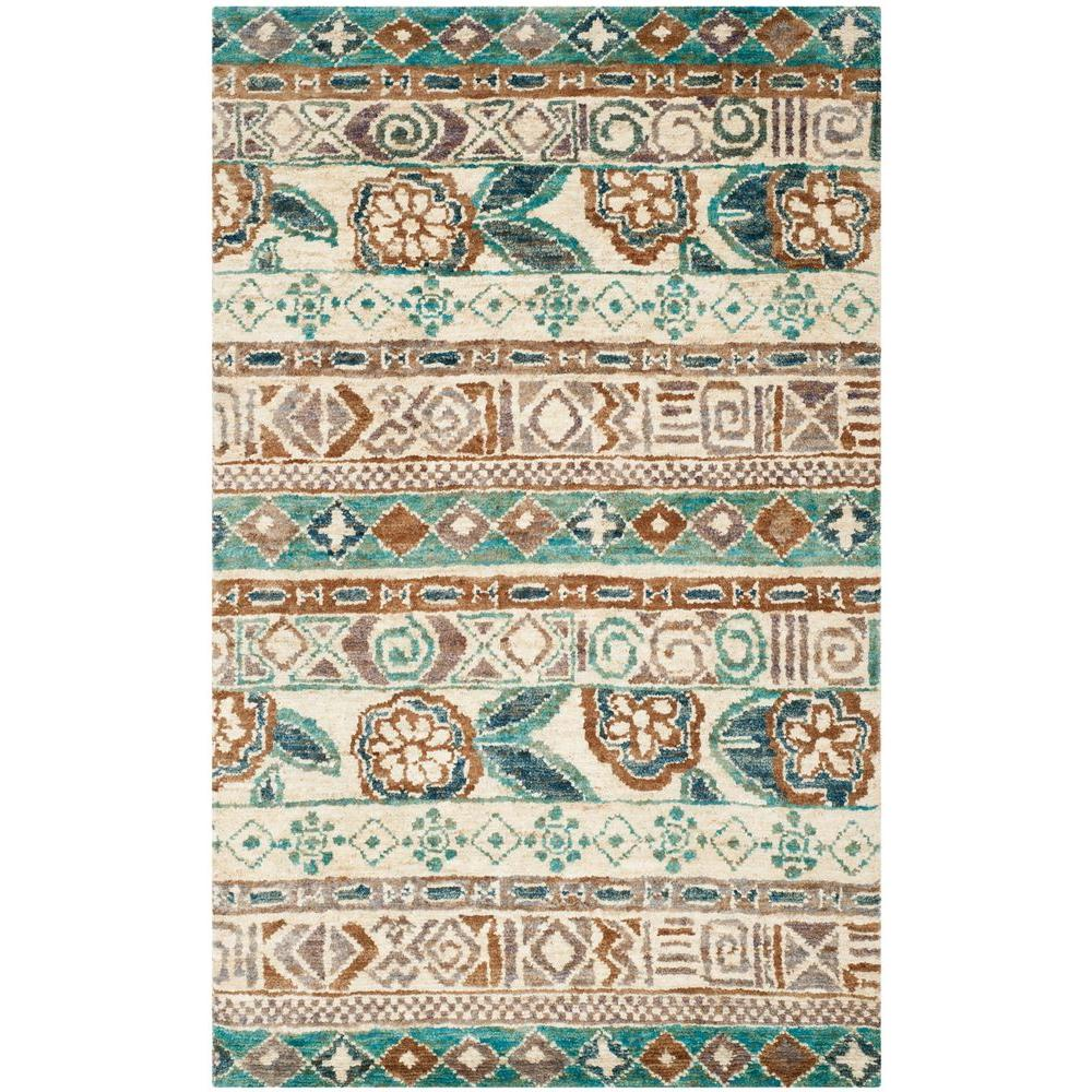 Safavieh Bohemian Bleach Gold 8 Ft X 10 Area Rug