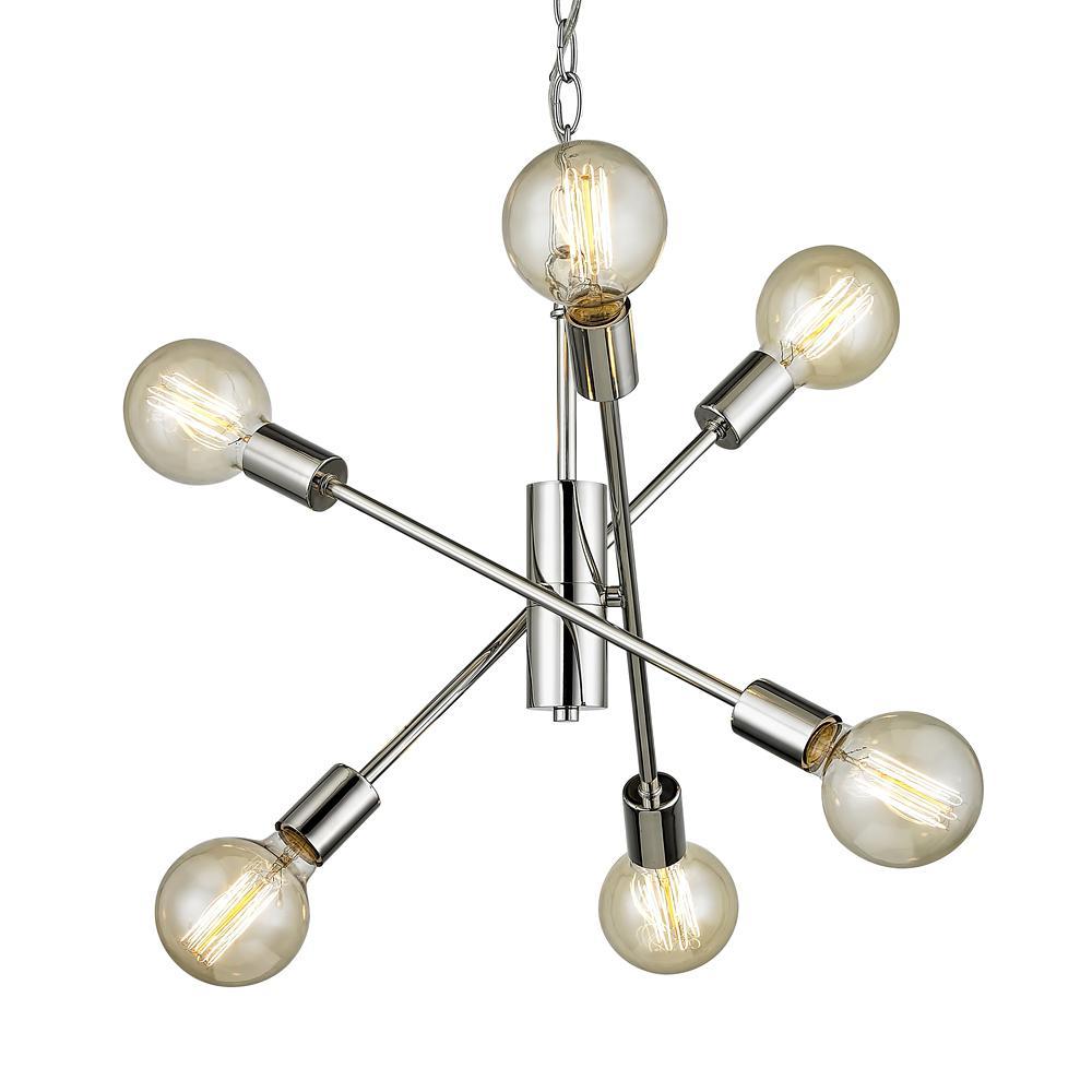 Fife 6-Light Polished Nickel Pendant
