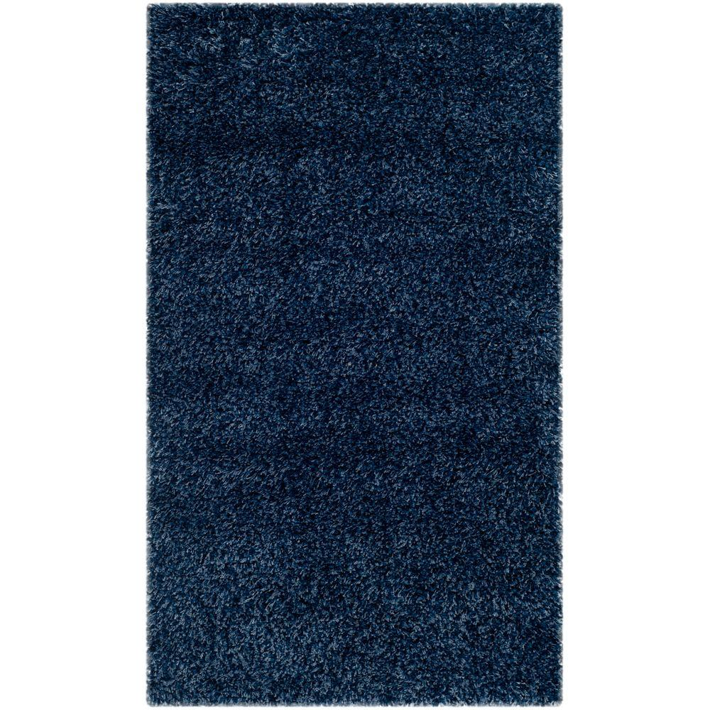 Safavieh California Shag Navy 4 Ft X 6 Ft Area Rug Sg151