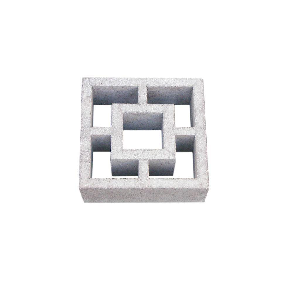 Tileco 12 In X 4 In X 12 In 397 Concrete Decorative