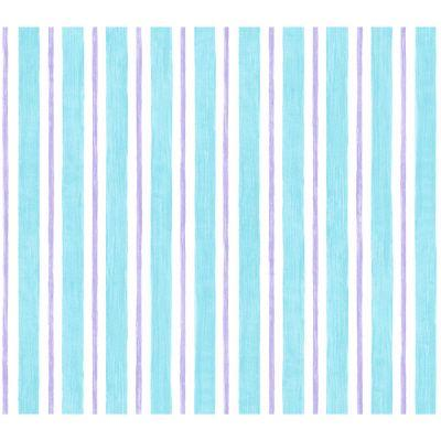 Disney 56 sq.ft. Blue And Purple Pastel Stripe Watercolor Wallpaper-DISCONTINUED