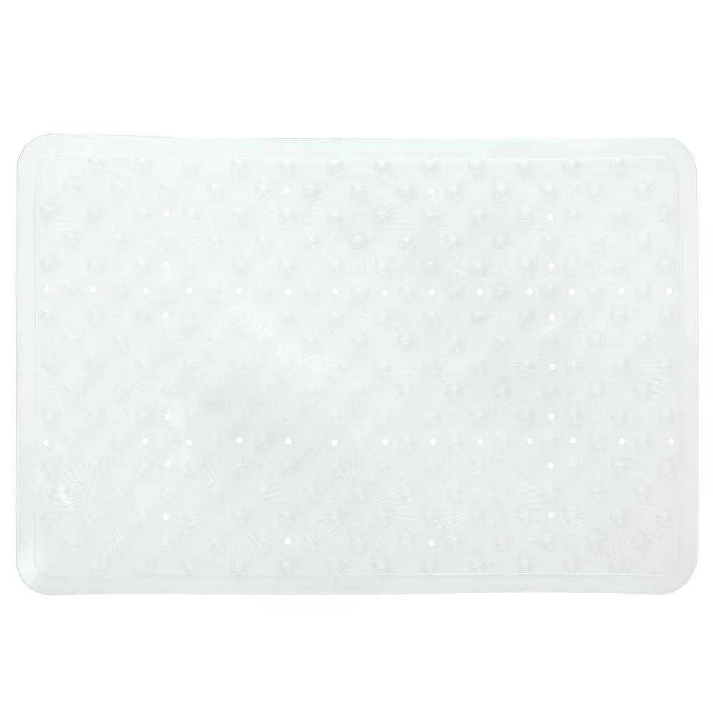 SlipX Solutions 17 in. x 25 in. Essential Bath Mat in Clear