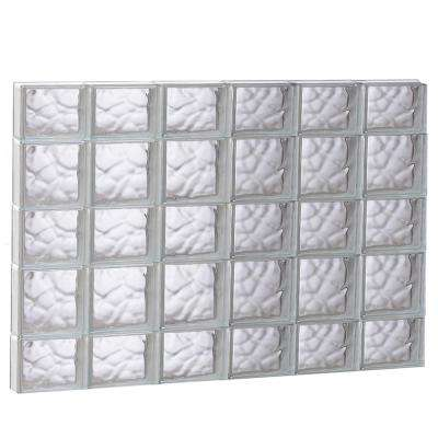 46.5 in. x 32.75 in. x 3.125 in. Wave Pattern Non-Vented Glass Block Window