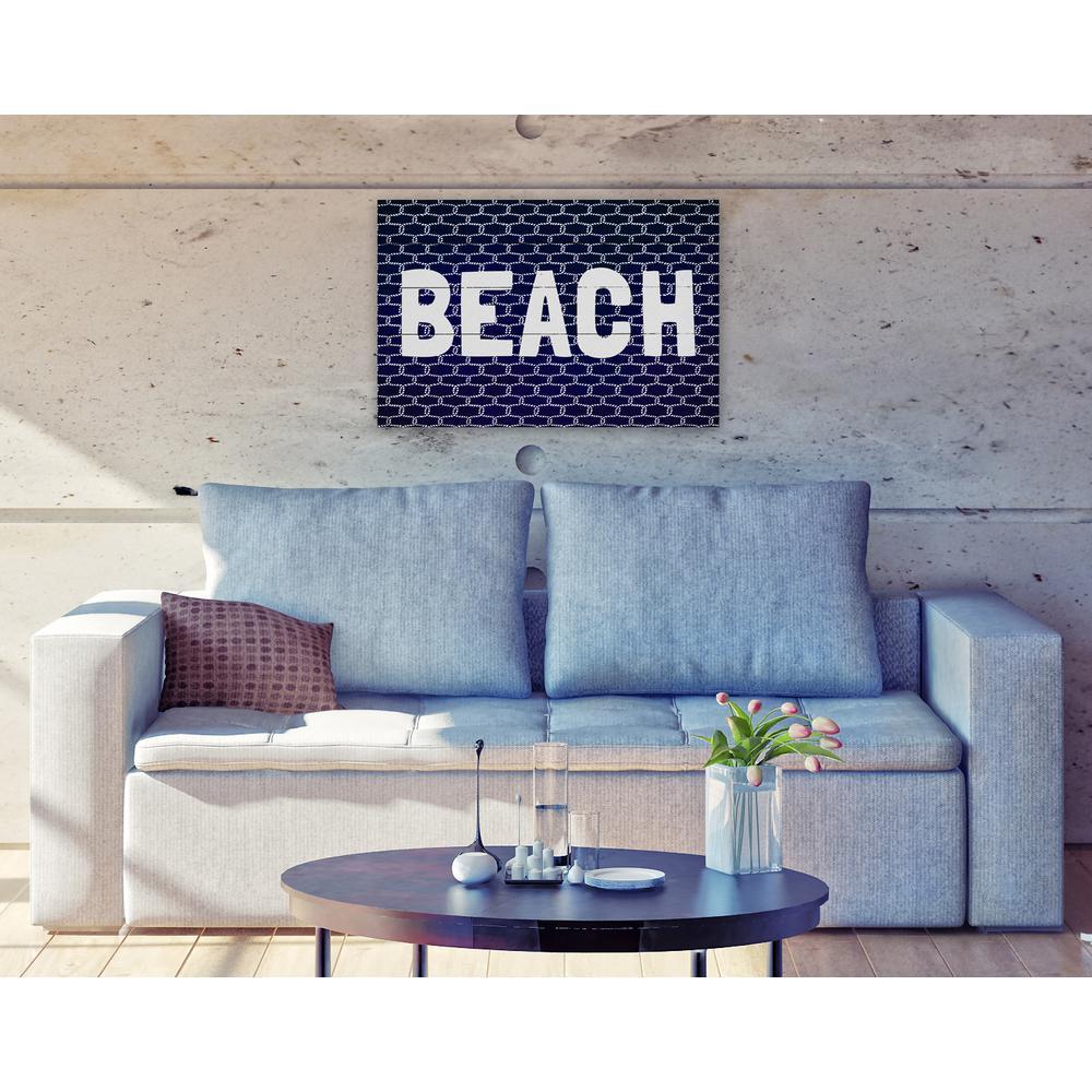 24 in. x 16 in. 'Beach Knot' By Wynwood Studio Plaque Art