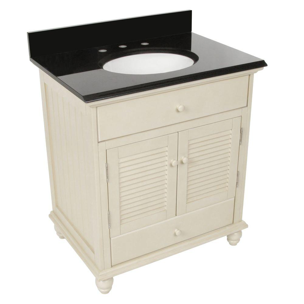 Foremost cottage 31 in w x 22 in d vanity in antique for Foremost home