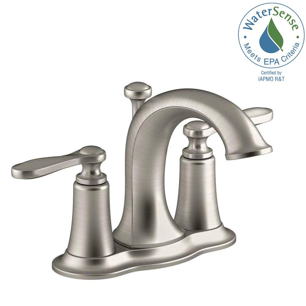 KOHLER Linwood 4 in. Centerset 2-Handle Water-Saving Bathroom ...