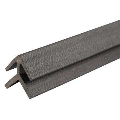 All Weather System 2.2 in. x 2.2 in. x 8 ft. Composite Siding Outside Corner Trim in Hawaiian Charcoal Board