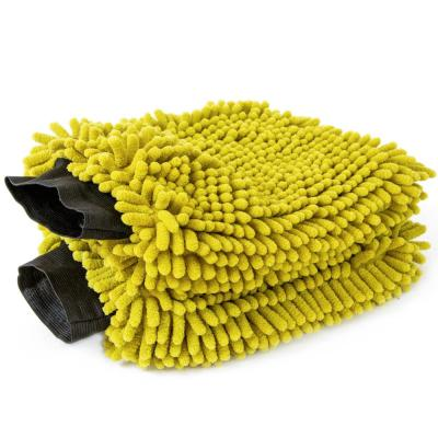 Car Wash Mitt - Premium Chennille Microfiber Cloth Car Wash Mitts (Extension Pole Not Included) (2-Pack)