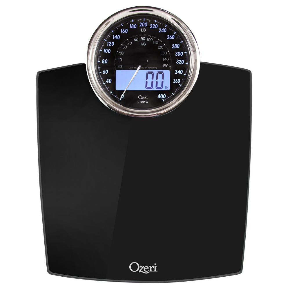 Ozeri Rev Digital Bathroom Scale With Electro Mechanical Weight Dial