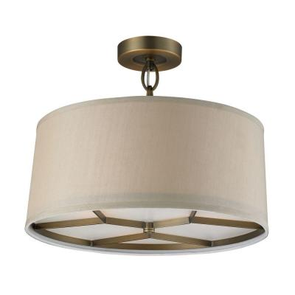 Baxter 3-Light Brushed Antique Brass Pendant