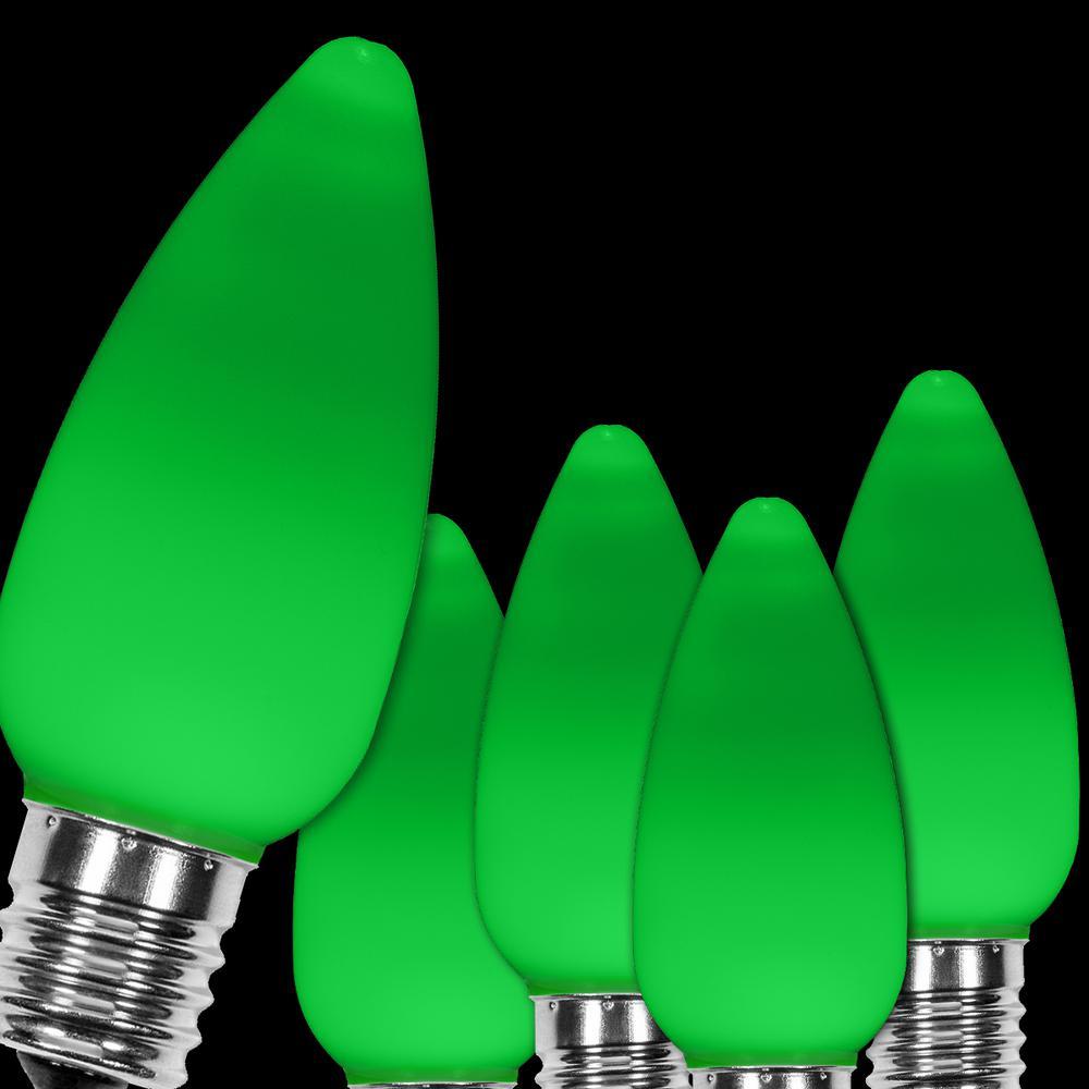 Christmas Green Color.Wintergreen Lighting Opticore C9 Led Green Smooth Opaque Christmas Light Bulbs 25 Pack