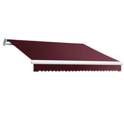 10 ft. MAUI EX Model Manual Retractable Awning (96 in. Projection) in Burgundy