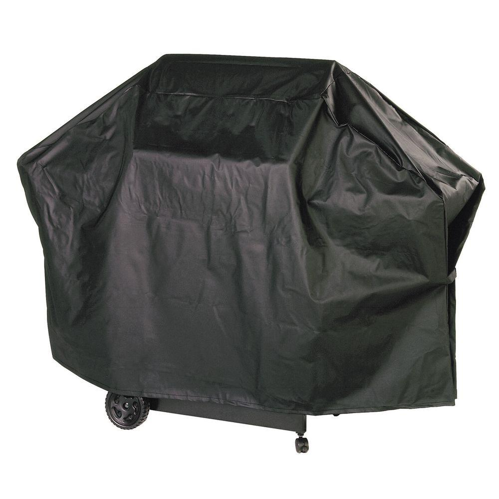 Char-Broil 65 in. Black Nylon-Lined Grill Cover
