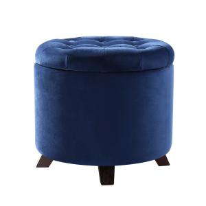 Astounding Poly And Bark Antonia Blue Velvet Storage Ottoman Hd 365 Blu Machost Co Dining Chair Design Ideas Machostcouk