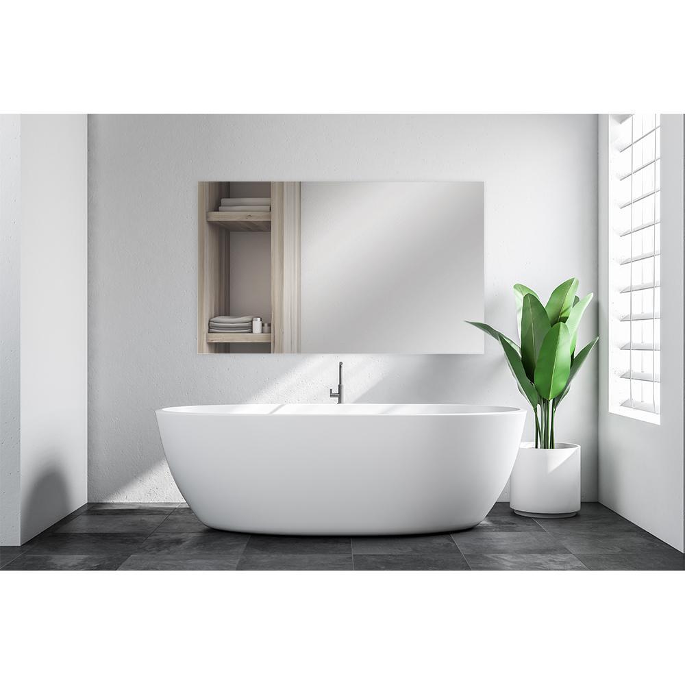 Glacier Bay 36 In W X 60 In L Polished Edge Bath Mirror 81178 The Home Depot