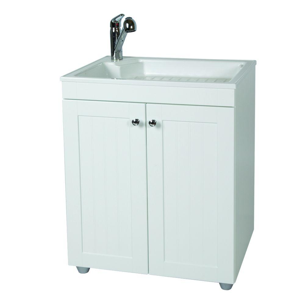 Glacier Bay All-in-One 27.5 in. W x 21.8 in. D  sc 1 st  The Home Depot : utility sink cabinet home depot - Cheerinfomania.Com