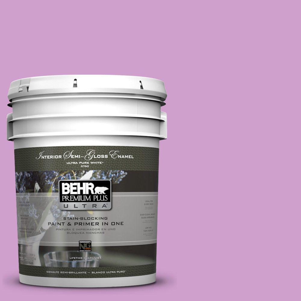 BEHR Premium Plus Ultra 5-gal. #670B-4 Geranium Bud Semi-Gloss Enamel Interior Paint