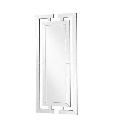 Emory 21 in. Contemporary Rectangle Mirror with Clear MDF Frame, Oval Shape, Mounting Type: D Ring