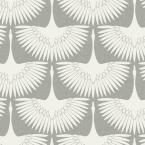 Genevieve Gorder Feather Flock Chalk Peel and Stick Wallpaper 28 sq. ft.