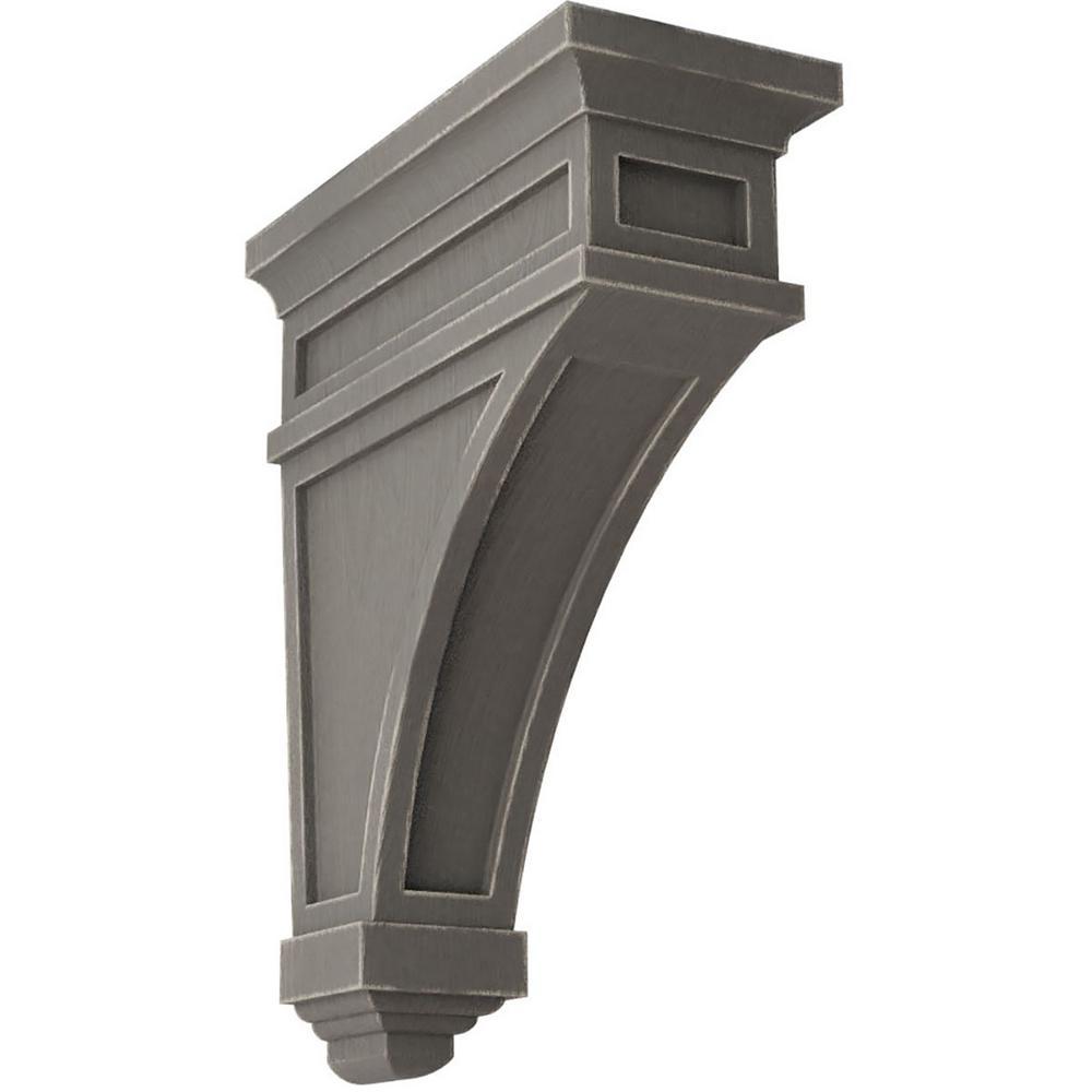 4-1/2 in. x 13-3/4 in. x 10 in. Reclaimed Grey Arlington Wood Vintage Decor Corbel