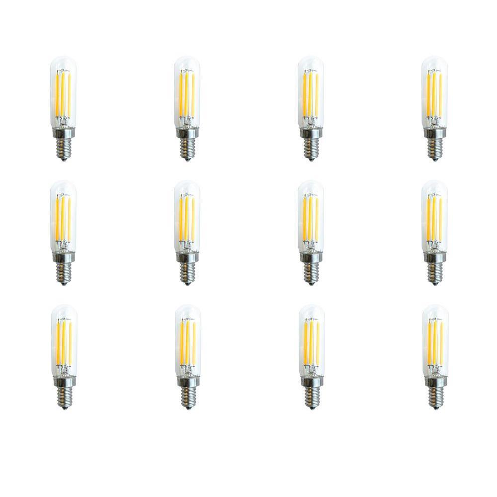 40-Watt Equivalent (2700k) T4 LED Light Bulb Warm White (12-Pack)