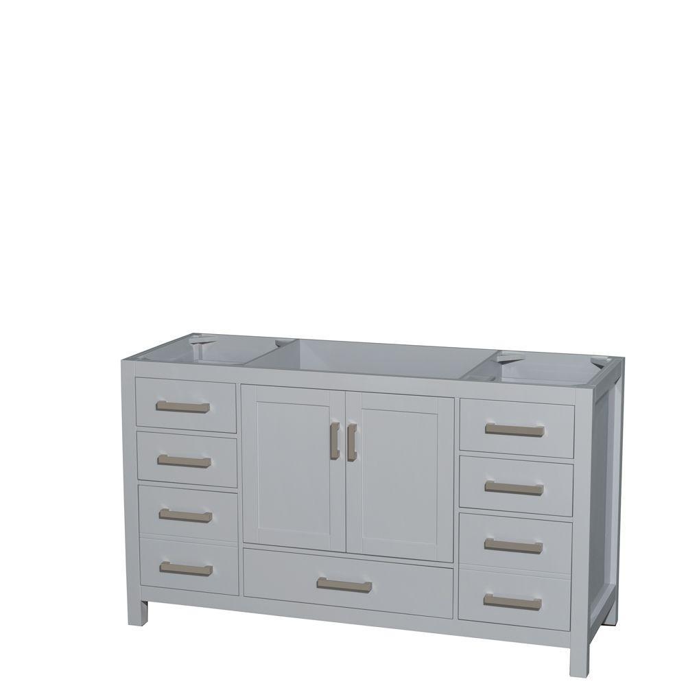 Sheffield 60 in. W x 22 in. D Vanity Cabinet in Gray