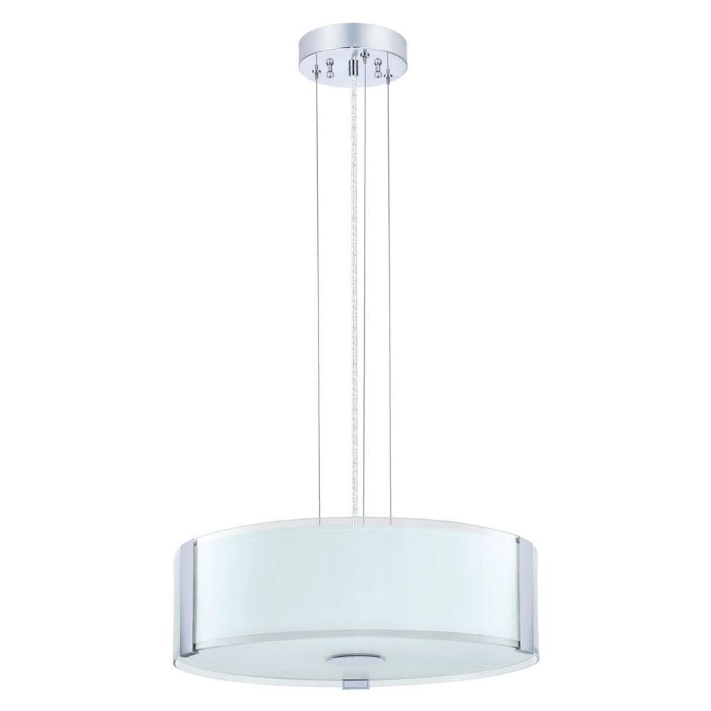 Eglo varano 3 light chrome ceiling mount drum pendant 91255a the eglo varano 3 light chrome ceiling mount drum pendant aloadofball Image collections