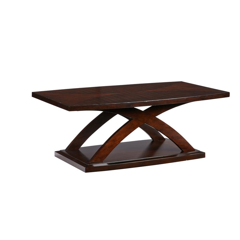 Progressive Furniture West Wind Espresso Rectangular Tail Table