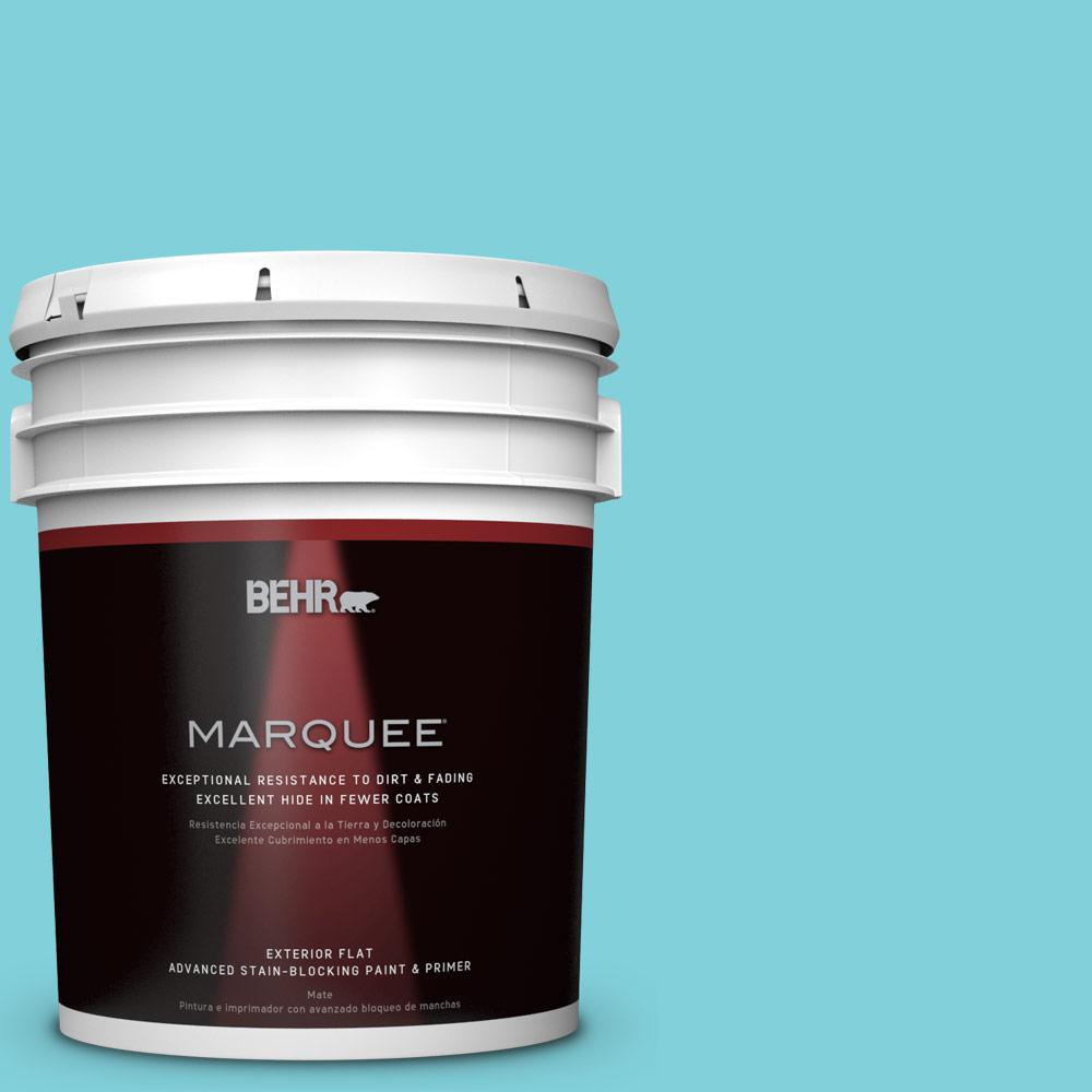 BEHR MARQUEE 5-gal. #P470-3 Sea of Tranquility Flat Exterior Paint