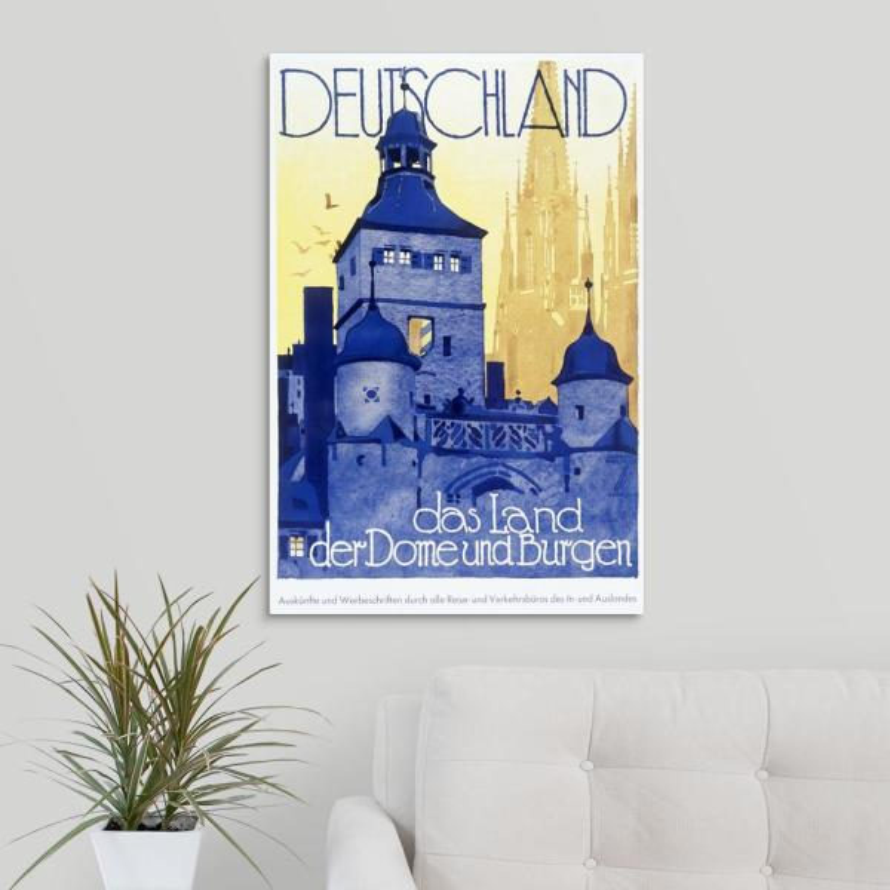 Greatbigcanvas Deutschland Das Land Vintage Poster By Ludwig