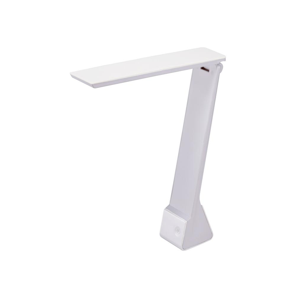 Bostitch 11 In White Battery Powered Led Desk Lamp With