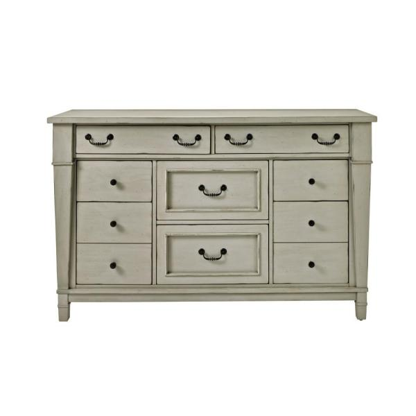 Bridgeport 8-Drawer Antique Grey Dresser 1872600270