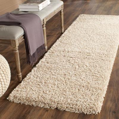 California Shag Beige 2 ft. x 5 ft. Runner Rug