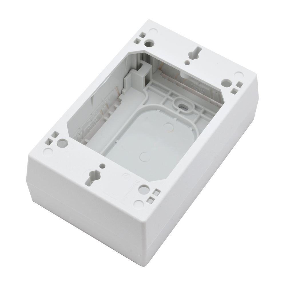Wiremold Non Metallic Wire Series 1-3/4 in. Raceway Device Box, White